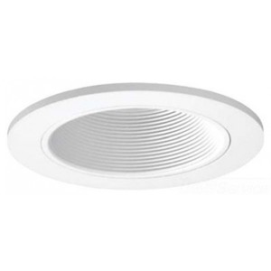 "Halo 3003WHWB Baffle Trim, 3"", White Baffle/White Trim"