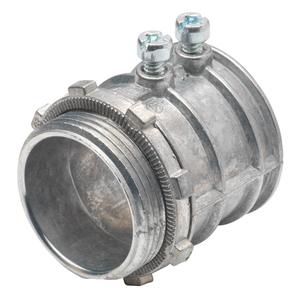 """Bridgeport Fittings 233-DC2 EMT Set Screw Connector, 1-1/4"""", Zinc Die Cast"""