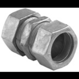 "Bridgeport Fittings 263-DC EMT Compression Coupling, 1-1/4"", Zinc Die Cast, Concrete Tight"