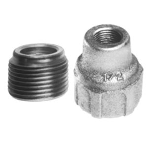 "Cooper Crouse-Hinds RE107 Reducing Bushing, 4"" x 2-1/2"", Threaded, Iron Alloy"