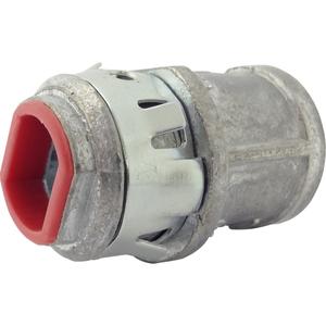 "Arlington 380AST MC/AC/Flex Connector, 3/8"", Straight, Zinc Die Cast"