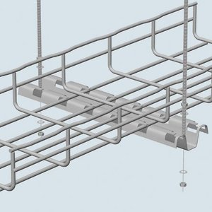 Cablofil FASP400PG FAS Profile, For Trapeze Hung Installations, Steel