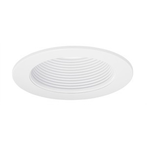 "Juno Lighting V4044-WWH Baffle Trim, LED, 4"", White Baffle/White Trim"