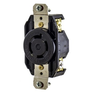Hubbell-Kellems L1420R Locking Single Receptacle, 20A, 3PH 480V, 3P4W