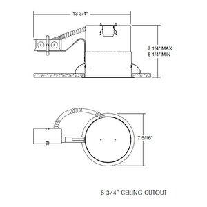 Juno Lighting TC2R Incandescent Housing, Remodel Ceiling, 5 Inch
