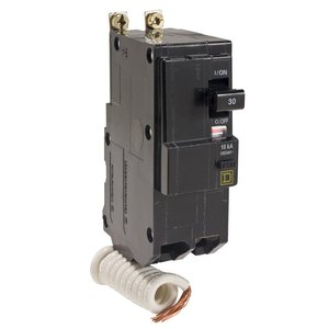 Square D QOB220EPD Breaker, Bolt-On, 20A, 2P, 120/240VAC, QOB Type, 10 kAIC, EPD