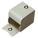 """Wiremold G2010A2 Raceway Entrance End Fitting, 2000 Series, Steel, Gray, 1/2"""""""