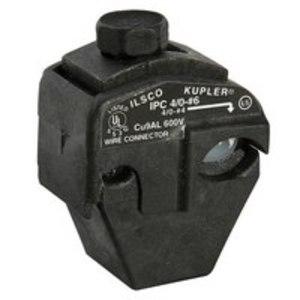 Ilsco IPC-4/0-6-B Insulation Piercing Connector, 4/0-4  AWG Run, 6-14 AWG Tap