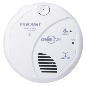 BRK-First Alert SA511B Wireless Onelink Smoke Alarm, (2) AA Battery Powered, White