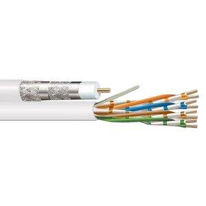 Coleman Cable 9900010601 Siamese Cable RG-6 Quad 18AWG & CAT5e CM