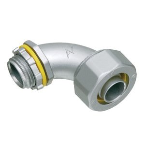 "Arlington LT9050 Liquidtight Connector, 90°, 1/2"", Die Cast Zinc"