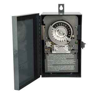 NSI Tork 7200 Mechanical Timer, 24 Hour, DPST, NEMA 1, 40A, 120V