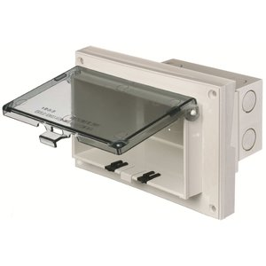 Arlington DBHR141C Weatherproof-In-Use Box, 1-Gang, Recessed, Horizontal, Non-Metallic