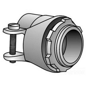 """OZ Gedney C-8 Flex Connector, Type: Squeeze, Non-Insulated, 1/2"""", Malleable Iron"""