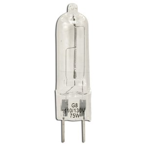 RAB LQ75-GY8 Halogen Capsule Lamp, T4, 75W, 120V
