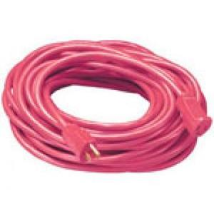 Coleman Cable 2408SW8804 Extension Cord, Outdoor - Round, 14/3, 50', Red