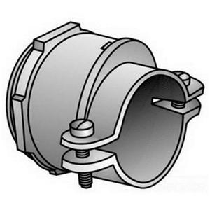"OZ Gedney KC-150 AC/Flex Connector, 2-Screw, Clamp, 1-1/2"", Malleable Iron"