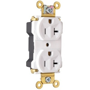 Pass & Seymour PT5362-AW PlugTail Receptacle, 20A, 125V, White, 5-20R, Extra Heavy Duty