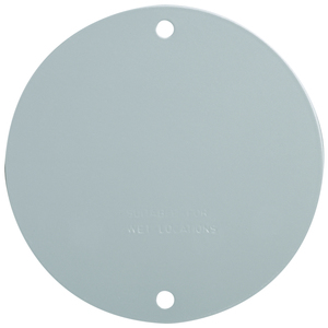 "Pass & Seymour WPRB1 Weatherproof Outdoor Cover, Round, 4"", Blank, Gray"
