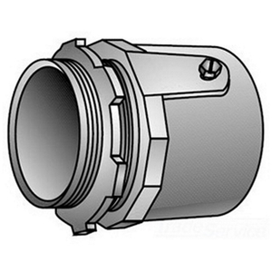 "OZ Gedney 28-125 Rigid Set Screw Connector, 1-1/4"", Malleable, Concrete Tight"