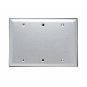 Pass & Seymour WPB3 Blank Aluminum Cover with Gasket and Screws