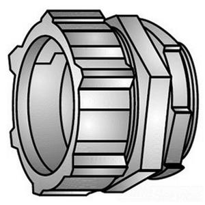 """OZ Gedney 31-250 Rigid Compression Connector, 2-1/2"""", Malleable, Concrete Tight"""