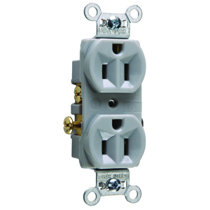 Pass & Seymour CR15-GRY RECEP DUP 15A/125V SIDE