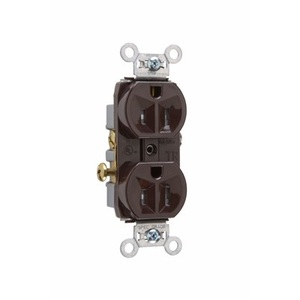 Pass & Seymour TR15 Tamper Resistant Duplex Receptacle, 15A, 125V, Brown, 5-15R