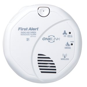 BRK-First Alert SCO500B Wireless Onelink Smoke/Carbon Monoxide Alarm, Battery Operated, White