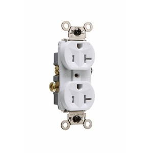 Pass & Seymour WR20-TRW Weather/Tamper Resistant Duplex Receptacle, 20A, 125V, White