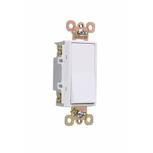 Pass & Seymour 2628-W Illuminated 4-Way Decora Switch, 20A, White, Lighted when OFF