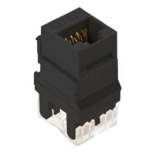 ON-Q WP3450-BK Snap-In Connector, AnyPort, Voice Grade, 6P6C, Black