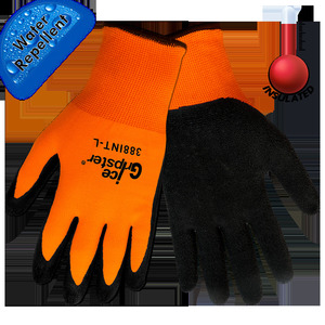 Safety Wear 388INT-L Work Gloves, Thermal, Ice Gripster, Two Layers, With Inner Liner