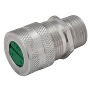 """Hubbell-Raco 4803-8 3/4"""" Aluminum Straight Cord Connector, .625""""-.75"""", F3"""