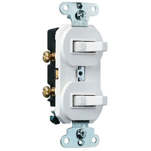 Pass & Seymour 696-WG Switch Combo, 1-Pole/3-Way, 15A, White