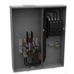 Milbank U4835-X-2/200-BL Meter Main, w/200A Breaker, 4 Jaw, 320A, 120/240VAC, OH/UG Service