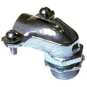 """Bizline BZL2204 Flex Connector, 90°, 1"""", Squeeze Type, Zinc Die Cast"""