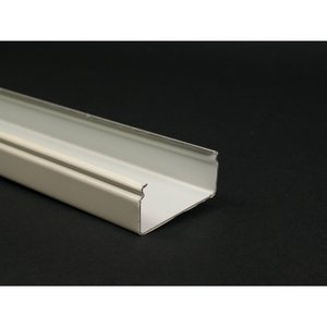 "Wiremold V2400B-10 Raceway Base, 2400 Series, Steel, Ivory, 1-29/32"" x 10'"