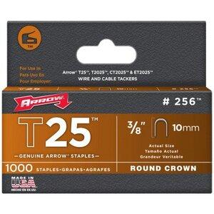 Arrow 256 T25 Round Crown Staple