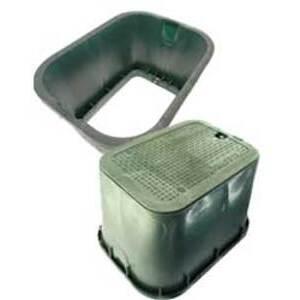 Oldcastle Precast 1419-12-GREEN-TELEPHONE Underground Box, 14 Inch x 19 Inch x 12 Inch, Green, Polyethylene
