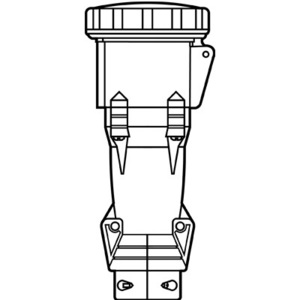Pass & Seymour PS4100C12-W Pin & Sleeve Connector, 100A, 125/250V, 3P4W