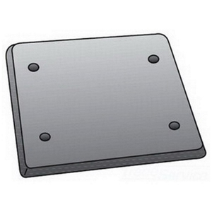 OZ Gedney FS-2-BCS Blank Cover, 2-Gang, Fits FS and FD Boxes, Steel