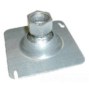 "Bridgeport Fittings SFS-75 4"" Square Swivel Fixture Hanger, 1/2 - 3/4"" Hub, Malleable Iron"