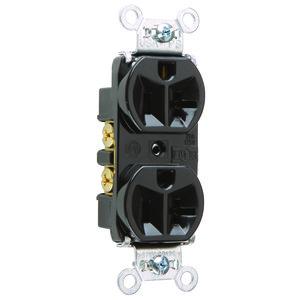 Pass & Seymour 5362-BK Duplex Receptacle, 20A, 125V, Black, 5-20R