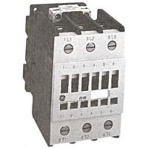 GE Industrial CL04A310MJ Contactor, IEC, 32A, 460V, 3P, 120VAC Coil, 1NO Auxiliary