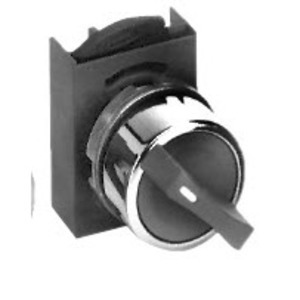 GE P9CSMD0N Selector Switch, 2 Position, Chrome, Maintained, Cam D, 22.5mm