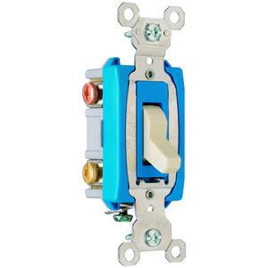 Pass & Seymour PS15AC3-I 3-Way Toggle Switch, 15A, 120/277VAC, Ivory