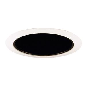 "Juno Lighting 206-BWH Cone Trim, Deep, 5"", BR30/PAR30, Black Alzak Reflector/White Ring"
