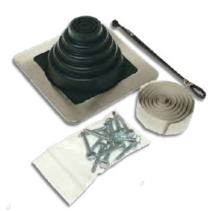 "Metallics RJK2 Roof Jack Kit, 6"" Base, 1/4 to 3"""