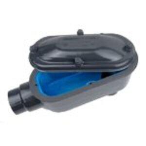 "Ocal LB38-4X-G PVC Coated Conduit Body, Type LB, Size: 1"", Form 8, Iron/PVC Coated"